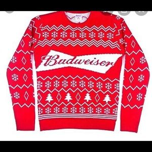 Brand new Budweiser Christmas sweater men's large